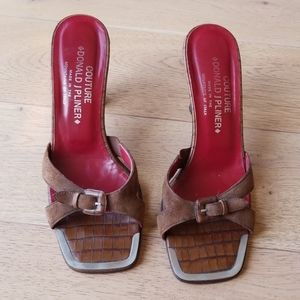 Couture Donald J Pliner Croc Sandal Heels